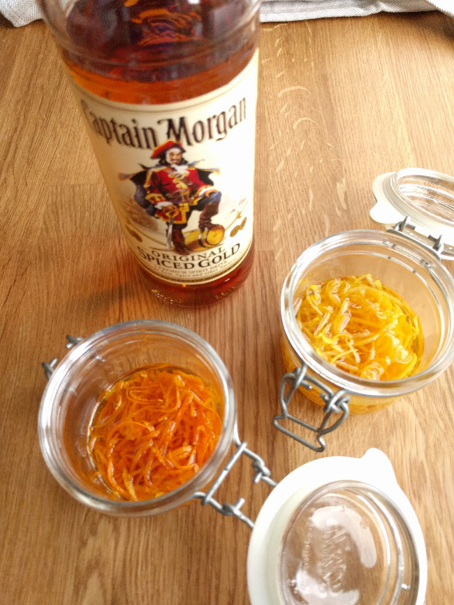 making orange and lemon zest extract