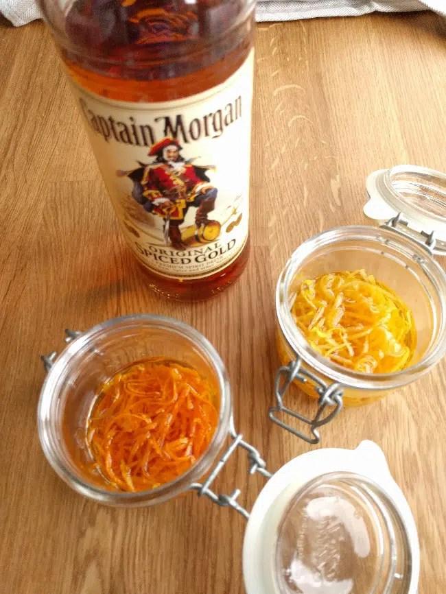 making orange and lemon zest extract