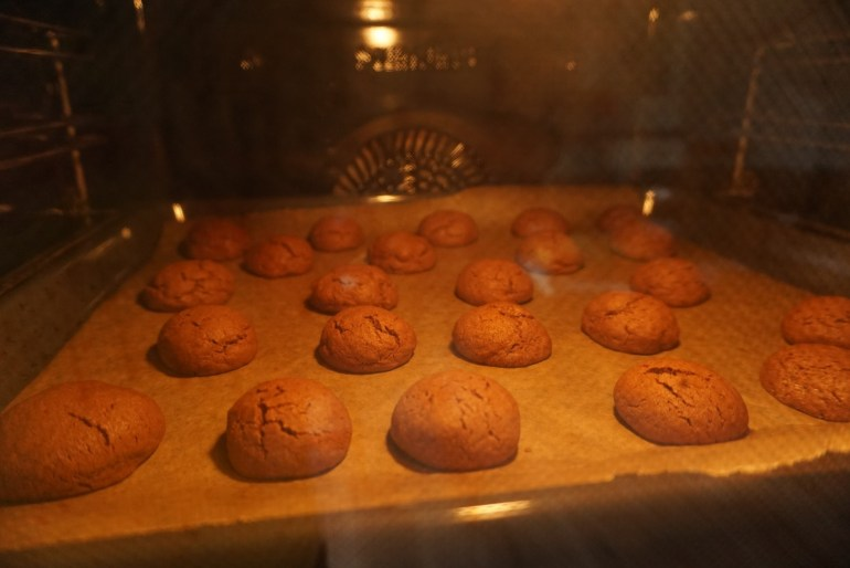 what happens in the oven - cookies almost finished