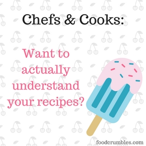 Chefs & cooks - want to actually understand your recipes? | Come along on our science journey at foodcrumbles.com