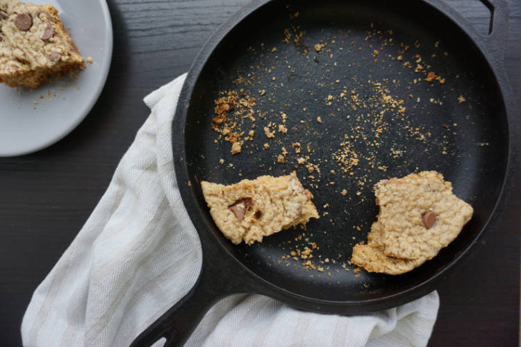 barbeque skillet cookie left overs