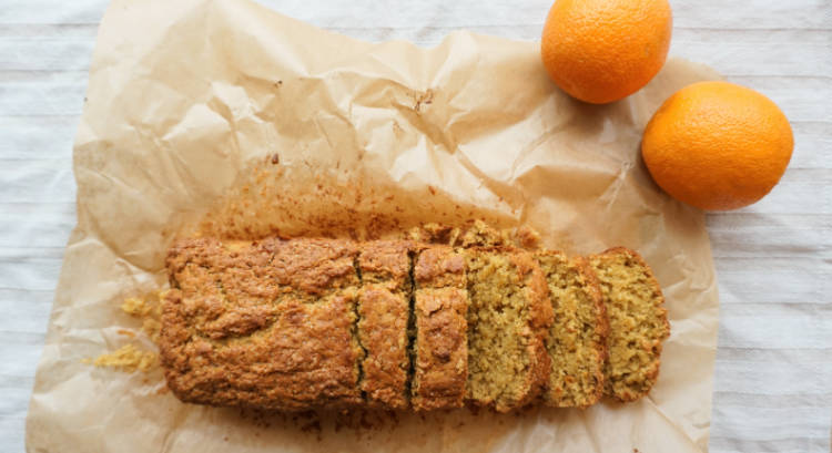 Eggless orange cake – Using custard as a substitute