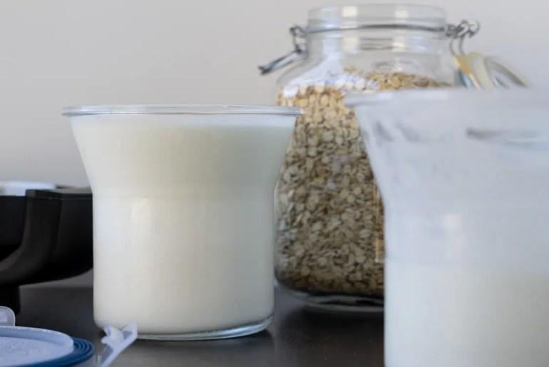 home made yogurt in jars