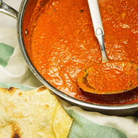 Butter chicken sauce thickened with cashews