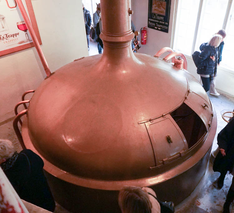 one of the old brewing kettles