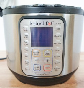 Instantpot Duo Plus 9 in 1 front view