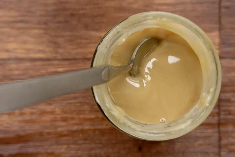 top view of maple cream