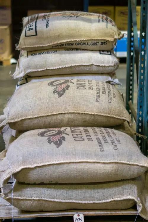 coffee beans in sacks