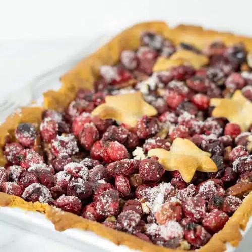 baked cranberry tart