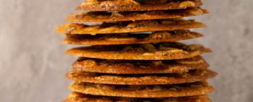 stack of brown butter almond tuiles