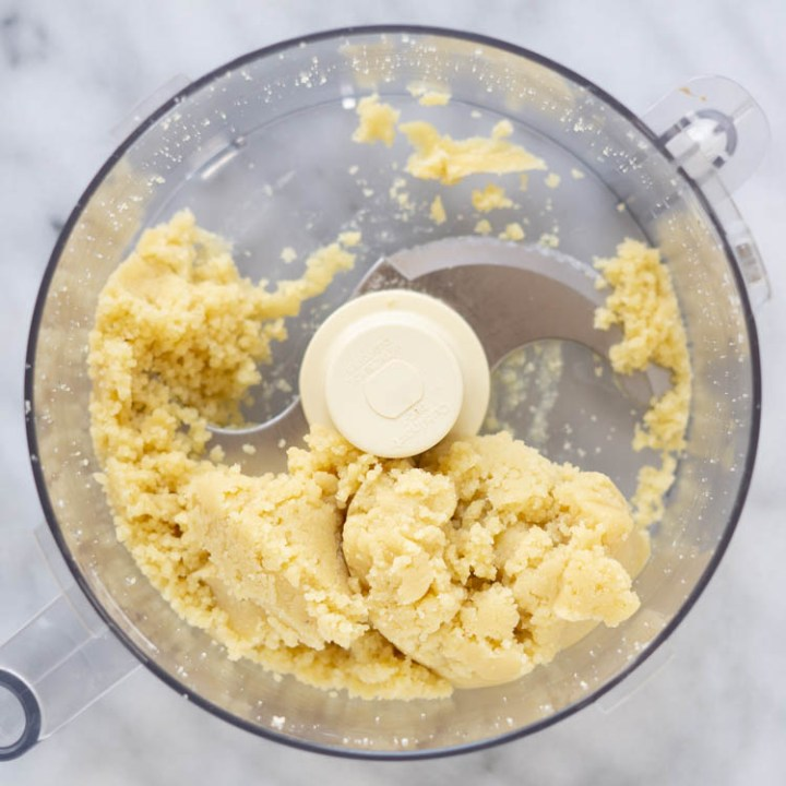almond paste in food processor