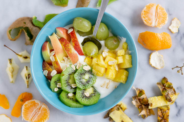 bowl of fruit and yogurt