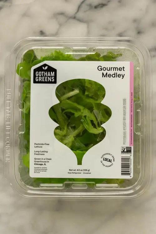 Gotham greens salad leaves