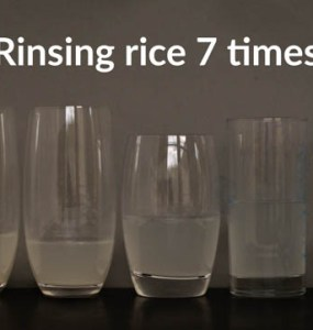 rinsing water of rinsing rice
