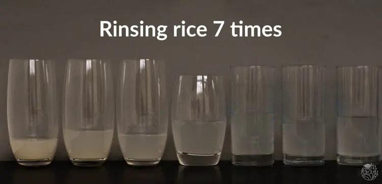 rinsing water of rinsing rice