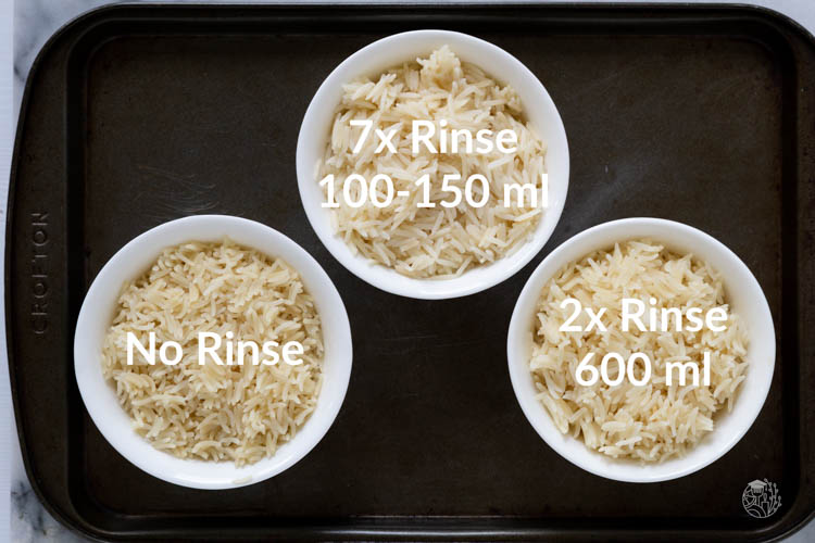 3x rinsing rice experiment