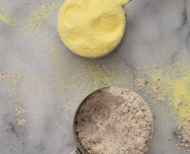 regular yellow corn and bloody butcher cornmeal