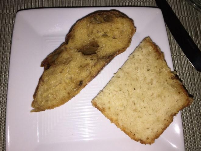 Endless River Kolsch Parmesan bread and sweet potato-onion bread