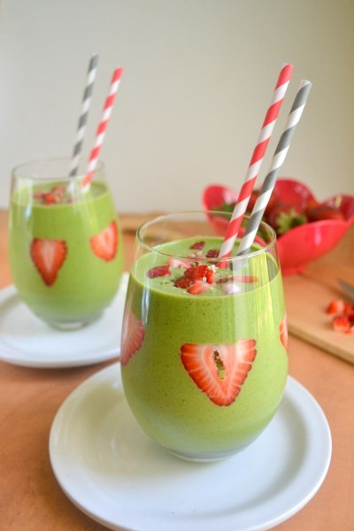 Strawberry Green Smoothie Image