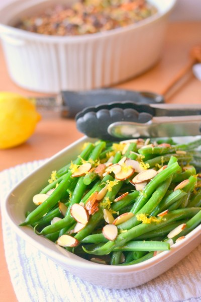Lemon Butter Green Beans with Almonds