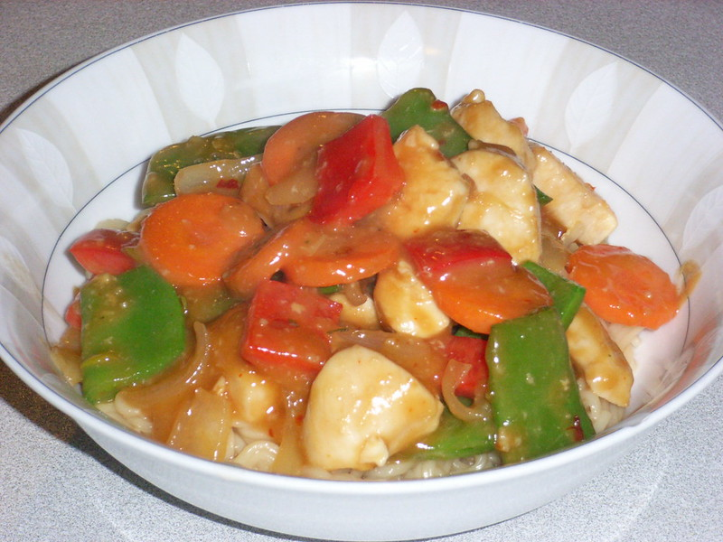 Chicken Satay Stir-Fry