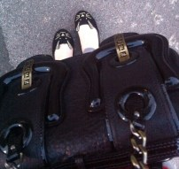 Fendi B Bag / ASOS Little Miss rabbit flats