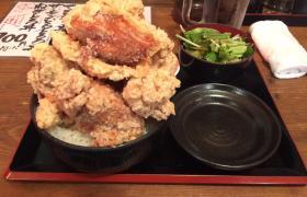 立川市ひなたかなたランチでか盛り唐揚げ丼大盛り11