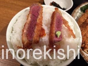 神保町牛かつ勝ちゃん三枚盛り定食大盛り11