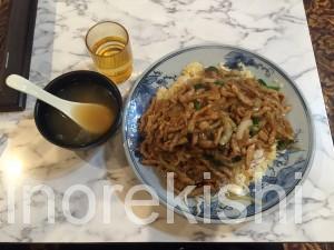 雁川がんせん秋葉原中華料理デカ盛り豚肉生姜焼きチャーハントリプル盛つけ麺どっかん盛2