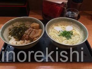 新宿沖縄そばやんばるラフティ丼セット大盛りソーキそば角煮7