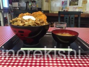 三鷹デカ盛りキッチン男の晩ごはんスタミナ野郎丼極大盛りラーメンにんにく13