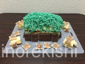 デカ盛りメガ盛り巨大バレンタインデー自作お菓子の家カステラグミコアラのマーチチョコレート16
