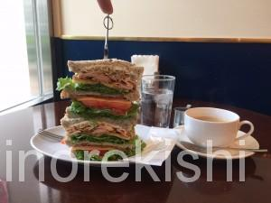 茗荷谷デカ盛りカフェキノーズマンハッタンニューヨークアメリカンクラブハウスサンドイッチコーヒー朝食ヘルシーメニュー8