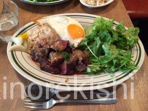 神田土日ランチ熟成肉レストランBrookKitchenブルックキッチンディナー牛ハラミスタミナプレート大盛り豚肩ロース8