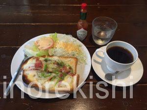 町屋ボリューム朝食モーニング黒猫舎くろねこしゃピザトースト猫むすびカフェ喫茶店京成本線荒川線18