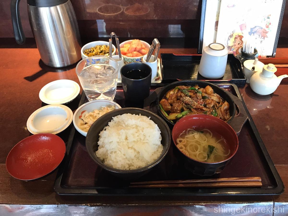 明太子食べ放題ランチ!秋葉原「やまや」で牛丸腸の鉄板味噌焼き定食!