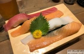 すし酒場フジヤマ大ネタ寿司肉寿司食べ放題握りいくらうに中とろまぐろメニュー飲み放題生ビール岩本町デカ盛り進撃のグルメ