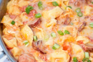 One Pot Meals: Tortellini and Sausage in Tomato Cream Sauce