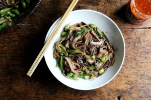 Vegetable Chow Mein-ish with Asparagus, Shiitakes, and Edamame-foodflag