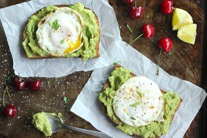 Skinny Fried Egg and Avocado Toast
