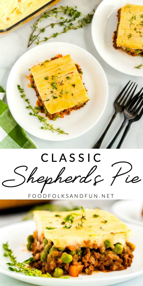 This Shepherd's pie recipe is a comfort food classic for a reason. Rich ground beef simmered with milk, broth, and other flavorings, peas and carrots, and creamy mashed potatoes. What's not to love?! via @foodfolksandfun