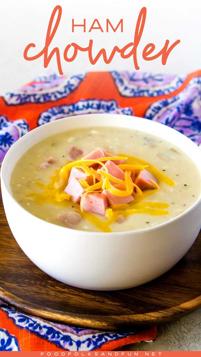 Ham chowder that uses leftover ham in the recipe.