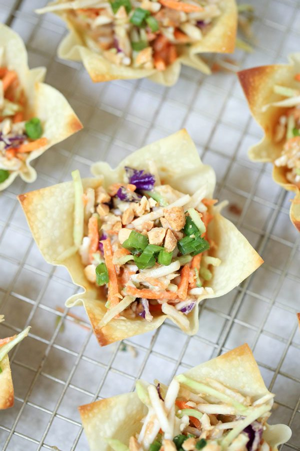 Asian Coleslaw with Thai flavors .