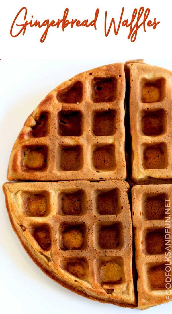 Homemade Gingerbread Waffles recipe.