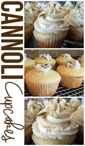 These Cannoli Cupcakes have all the flavors of a traditional cannoli, but packed into cupcake form!
