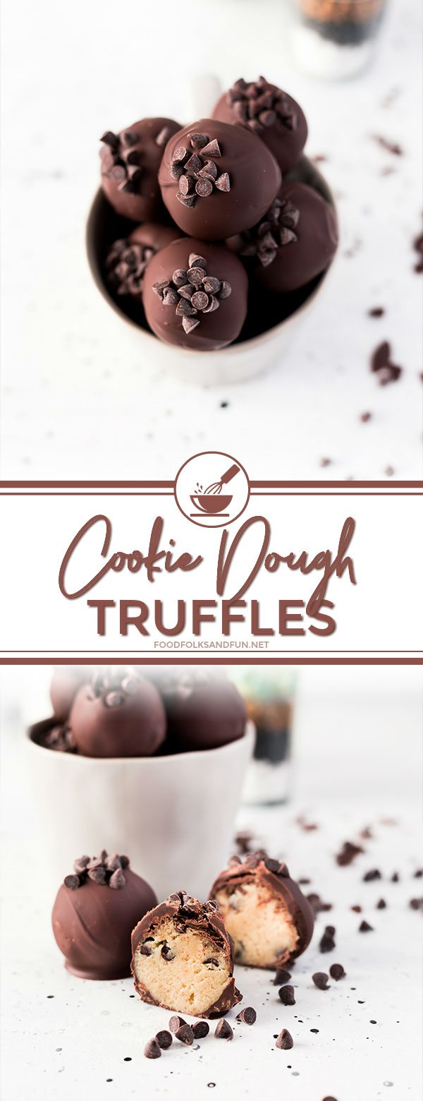 Easy Chocolate Chip Cookie Dough Truffles recipe.