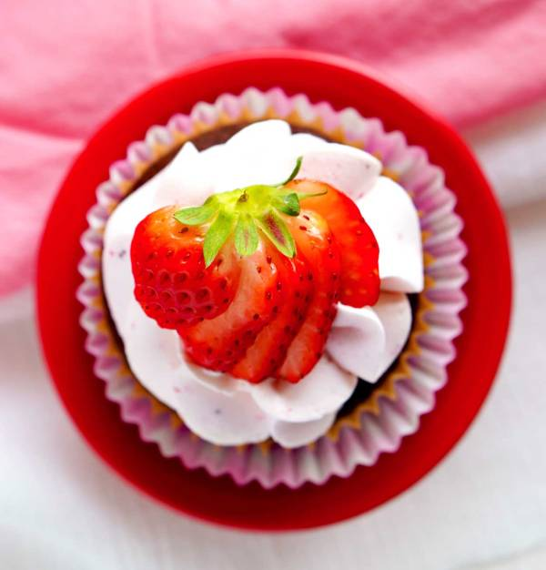 The best Strawberry Swiss Meringue Buttercream!