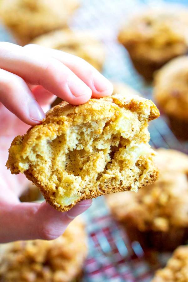 What I love most about this Apple Muffin recipe is that it's SO easy to make and it's great for breakfast on the go. My kids love them and the house smells heavenly while they're baking.