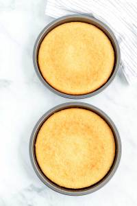Bake the cakes until light golden brown.