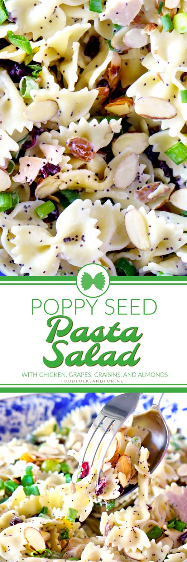 Summer dinner recipe for Poppy Seed Pasta Salad